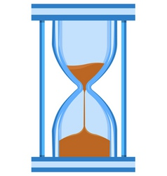 hour glass timer vector image