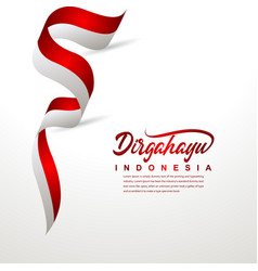 Indonesia independence day celebration creative vector
