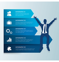 Infographic design template Businessman vector image