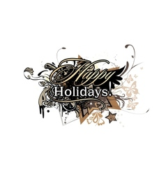 Inscription Happy Holidays vector image