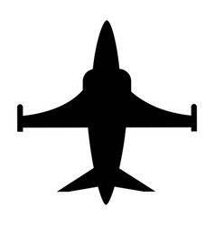 Isolated military jet design vector