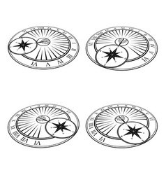 isometric sundials set vector image