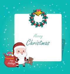 jolly old santa christmas greeting vector image