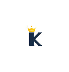 king letter k logo icon design vector image