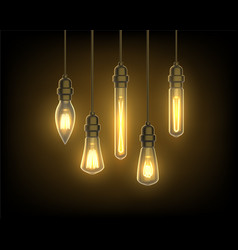 Light bulb or lamp lantern or lightbulb on wire vector