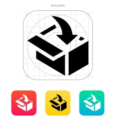 Loading in box icon vector image
