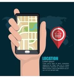 Location concept design vector