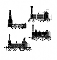 locomotives vector image