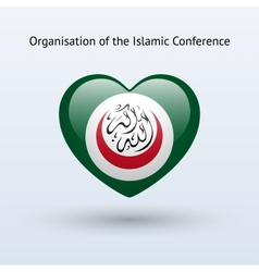 Love organisation islamic conference symbol vector