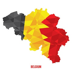 Map of Belgium vector image