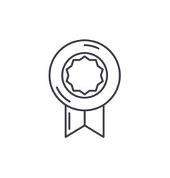 medal line icon concept medal linear vector image