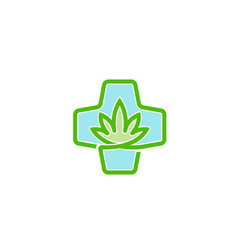 Medical marijuana clinic design logo vector