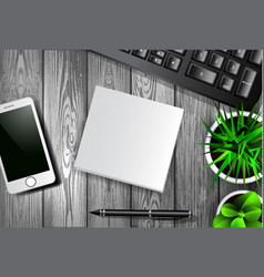 modern workspace set with stationery vector image