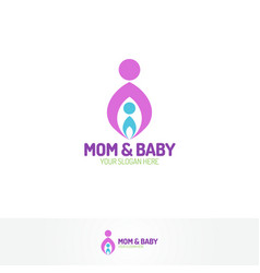 Mom and baby logo vector