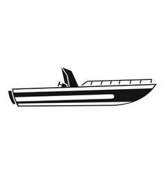 Motor speed boat icon simple style vector