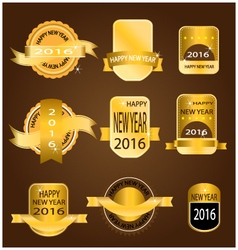 New year 2016 gold banner vector image
