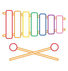 Of xylophone vector