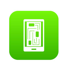 phone innards icon digital green vector image