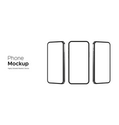 Phone mockup highly detailed realistic devices vector