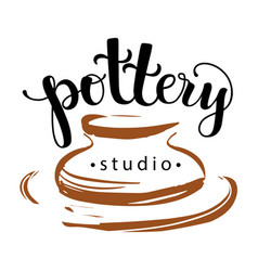 Pottery studio logo vector