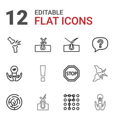 Problem icons vector