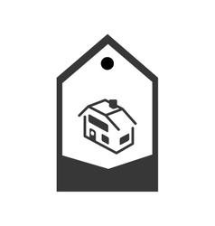 real estate house in tag vector image