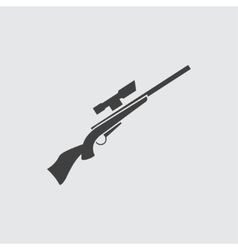 Rifle gun icon vector