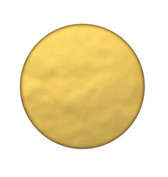 Round golden foil banner hole gold texture vector