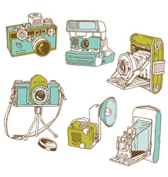Set of Photo Cameras vector