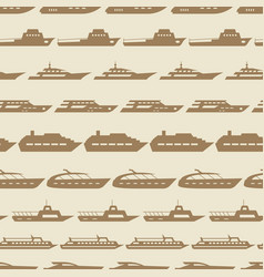 ships and boats vintage seamless pattern vector image