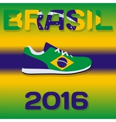 sign sport country with flag brazil vector image