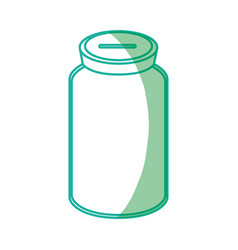 Silhouette glass bottle to save cash money vector