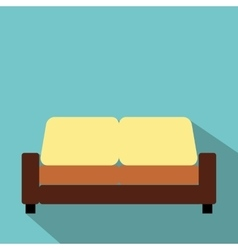 Sofa furniture flat icon vector image