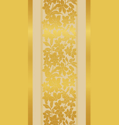 stylized gold tulips and vector image