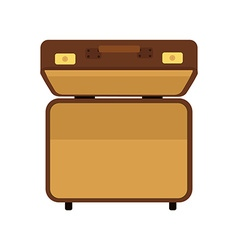 Suitcase top view vector image