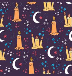 Sweet dreams doodle seamless pattern-08 vector