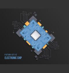 Technology scheme circles high tech circuit board vector