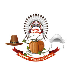 thanksgiving day symbols set vector image