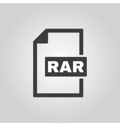 The RAR file icon Archive and compressed symbol vector image