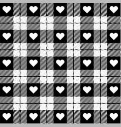 valentine day tartan plaid pattern scottish cage vector image