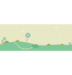 Village landscape sketch vector