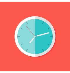 Watch Flat Icon over Red vector