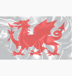 Welsh dragon grunge vector