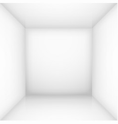 White simple empty room interior box for design vector