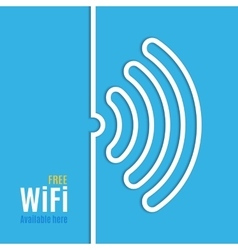 Wifi icon on blue background vector