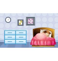 A girl sleeping vector image vector image