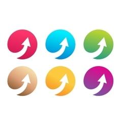 arrow icon logo template vector image