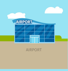 colored airport building vector image