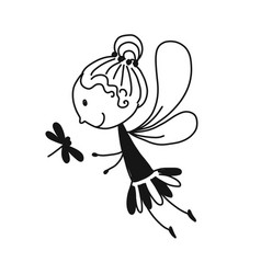cute little fairy sketch for your design vector image vector image