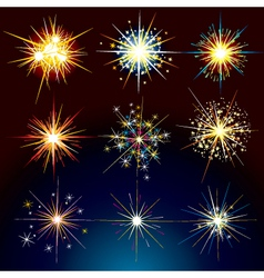 fire works vector image